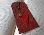 Wooden Heart Leather Bookmark by random-wish