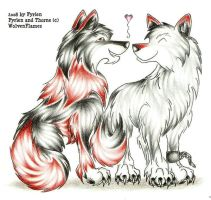 Wolfie Love by WolvenFlames by ArtOfThePawAndFang