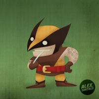 Wolverine Vectorized by alexsantalo