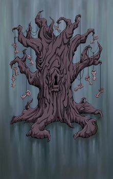 Skelton Key Tree in Blue by miss-Hobbit
