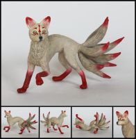 Kitsune Sculpture by WispyChipmunk