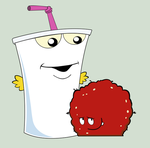athf-shake and meatwad by sewer-pancake
