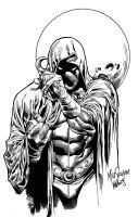 Moon Knight ink by BrenGun