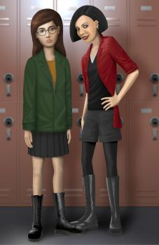 Daria and Jane portrait by S-C