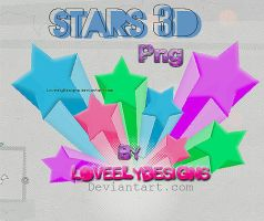 Stars 3D Png by loveelydesigns