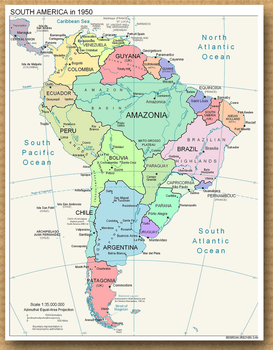 Alternate South America - 1950 by enannglenn