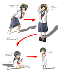 Uiharu Age Regression by anirhapsodist