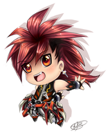 [Elsword] Chibi IS by Paws-the-snowleopard