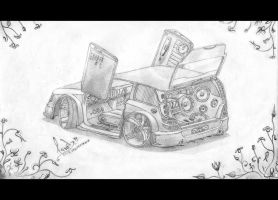 Car drawing by xGrabx