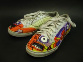 Monster Shoes Print by flyingblind