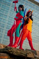 Katsucon 2012: Vriska and Terezi by skwinkography
