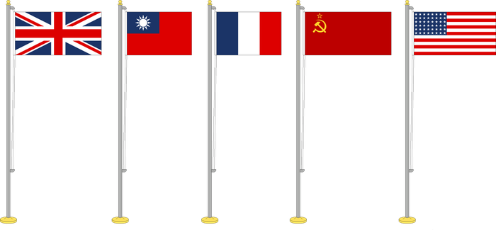 Flags set Allies Big Five 1941-45 by YamaLama1986