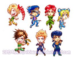Jojo's Bizarre Stickers by viciousSHADi