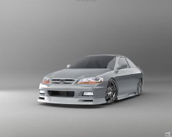 Honda Accord Coupe Front by Liemn