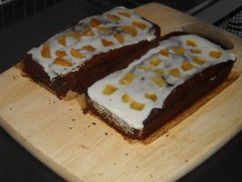 Ginger Cake With Icing by Bisected8