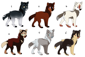 Wolf Pups 4 [CLOSED] by dizzyAdopts