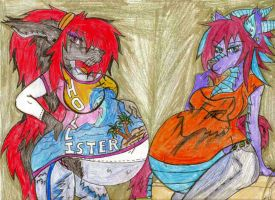 Renee and Cyndi by Leumas1969