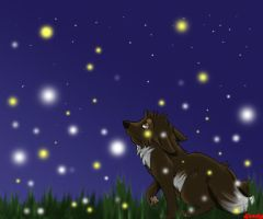 little lightning bugs by mewryme