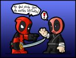 Deadpool Vs Perv Ninja by NeoKaoz