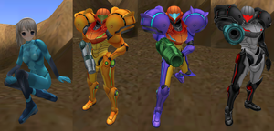 Samus Suits by SoniaStrummFan217