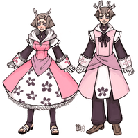 Deer in petal clothing by emlan