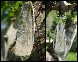 Trapped Inside Crystal Pendant by LiuRokSilver