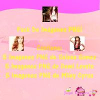 Pack PNG de Selena Gomez,Demi Lovato y Miley Cyrus by Jaaquii