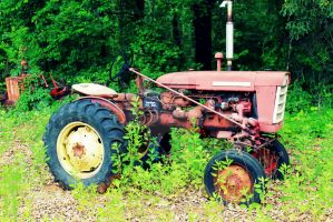 Little Red Tractor by LadyAriessTemptra