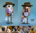 Owl made out of Gonzo's shirt scraps! by Madelei