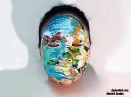 Landscape painting on my face by eizu