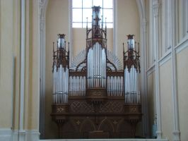 Organ at St. Barbara's by LadyScale