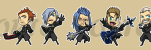 Stickers: Organization XIII Plus DiZ by forte-girl7