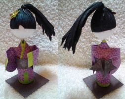 3D Origami Kid Prize - Girl with Ponytail by mihijime