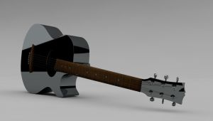 Acoustic Guitar 3D by Valadj