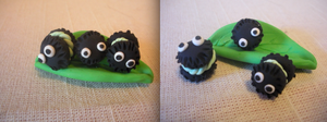 soot sprites macaroons by HanniChomps