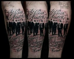 La cosa nostra tattoo by Reddogtattoo