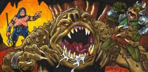 Rancor Monster Sketch Card by Steevcomix