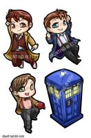 Tiny Doctor Who Charms + Jack by dauntingfire