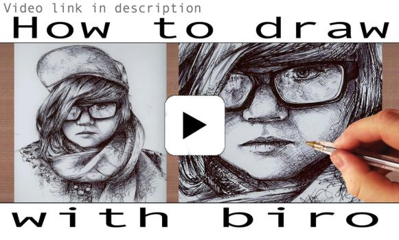 VIDEO - How to Draw Realistic, Detailed with BIRO by FatBabyDave