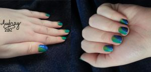 Triangles Nail Art by icerose05
