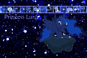 Princess Luna Wallpaper by phasingirl
