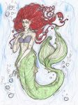 A little mermaid Coloured by TypicalWatson