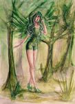 COMMISSION: The Forest Fairy by TEAofeyes
