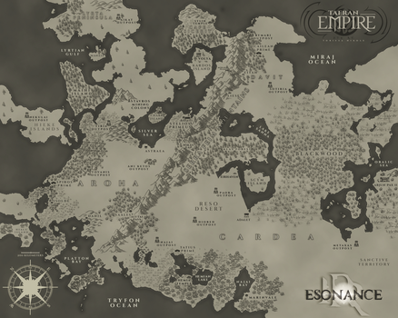 The Taeran Empire - Angentis Maps by TorissaNikole