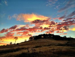Berryessa Sunset by crimsonhurricane83