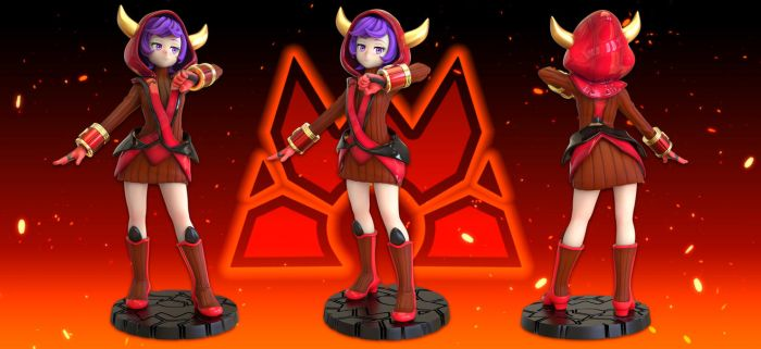 Magma Admin Courtney Figure by R-no71