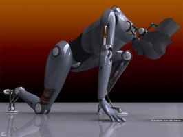 Female android robot by SeamZ2B