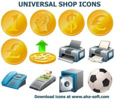 Universal Shop Icons by Ikont