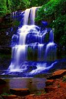 Blue WaterFall by JustCallMeYvette