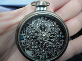 Steampunk Fairy Pocket Watch, Fantasy Pocket Watch by MoonlightMoth